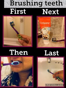 brushing teeth sequence